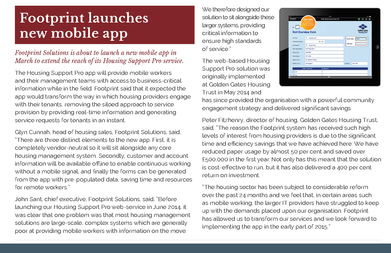 Housing technology article footprint solutions is about to launch a new mobile app in march to - Manufactured homes prices solutions within reach ...